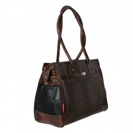 Monaco Pet Tote, Croco Brown