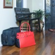 With luggage